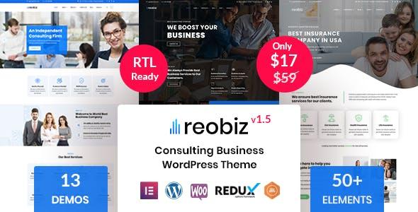 Download Reobiz - Consulting Business WordPress Theme