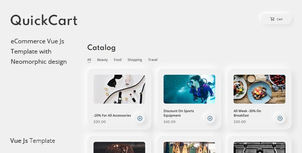 QuickCart – One Page eCommerce Vue Js Template