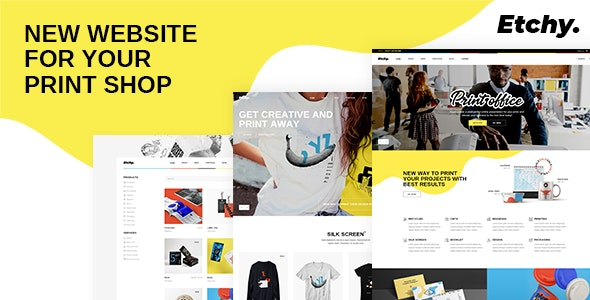 Etchy - Print Shop WordPress Theme - Retail WordPress