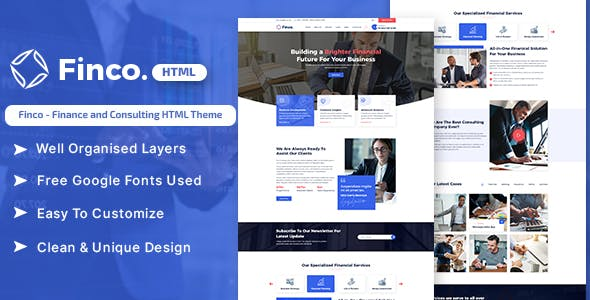 Download Finco - Finance and Consulting HTML Theme