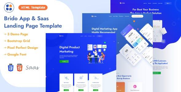 Download Brido - App & Saas Landing Page HTML Template