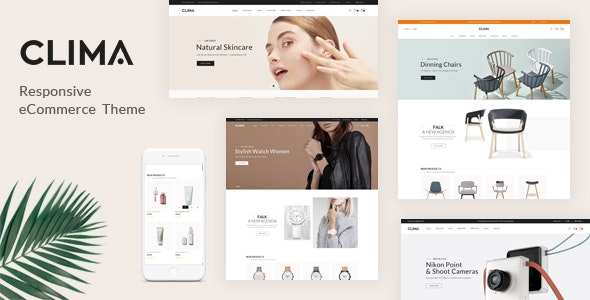 Clima - Responsive OpenCart Theme (Included Color Swatches) - Shopping OpenCart