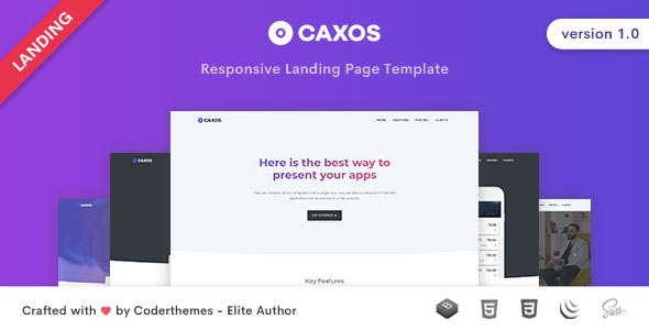 Caxos - Landing Page Template