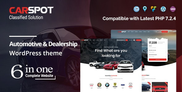 CarSpot – Dealership Wordpress Classified Theme - Directory & Listings Corporate