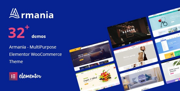 Armania - Fashion, Furniture, Organic, Food Multipurpose Elementor WooCommerce Theme (RTL Supported) - WooCommerce eCommerce
