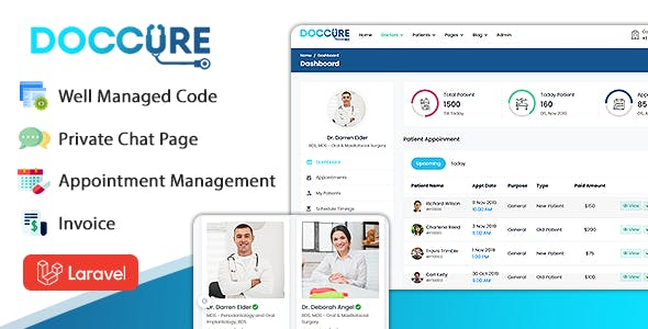 Download Doccure - Doctor Appointment Booking System Template (HTML + Laravel)