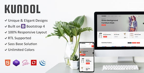 Download Kundol - Bootstrap Multipurpose Shopping Template