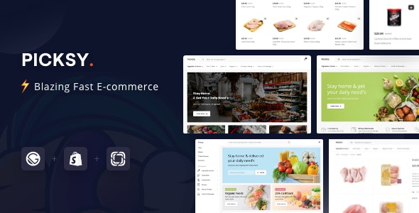 Picksy - React Gatsby Grocery Ecommerce Template - Food Retail