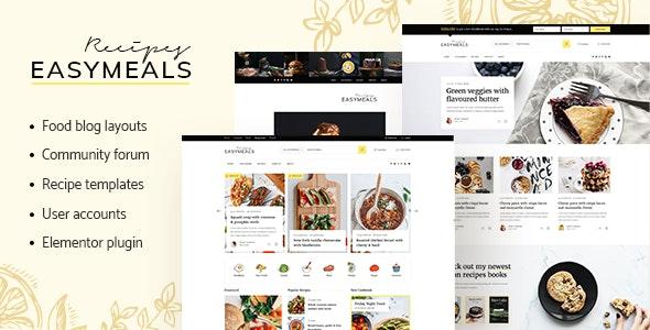 EasyMeals - Food Blog WordPress Theme - Personal Blog / Magazine