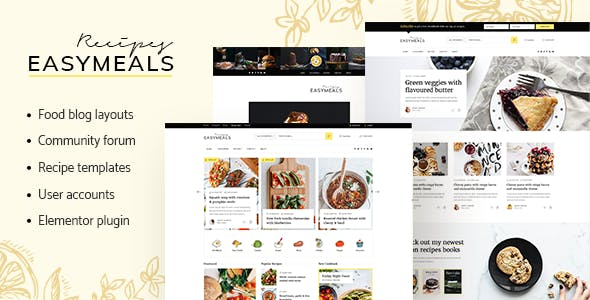 Download EasyMeals - Food Blog WordPress Theme