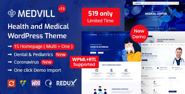 Medvill - Health & Medical WordPress Theme - Health & Beauty Retail