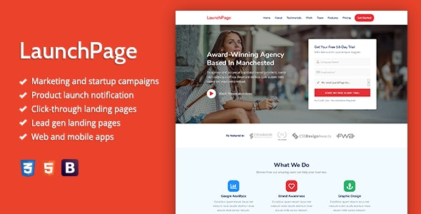 LaunchPage - Premium HTML Landing Page Template - Landing Pages Marketing
