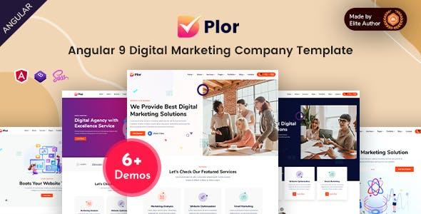 Download Plor - Angular 9 SEO & Marketing Agency Template