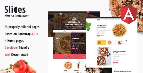 Download Slices - Pizzeria Restaurant Angular Template