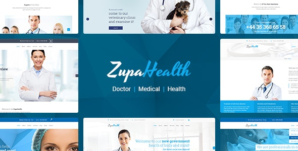 ZupaHealth – Medical and Health Joomla Template - VirtueMart Joomla