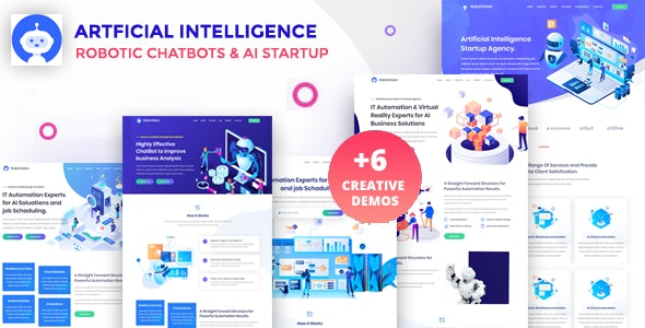 RoboVission - AI Agency Template & IT Technology Startup - Technology Site Templates