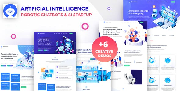 Download RoboVission - AI Agency Template & IT Technology Startup