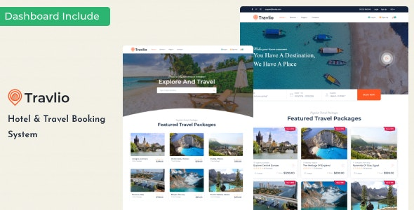 Travlio - Tour & Hotel Booking HTML Template - Business Corporate
