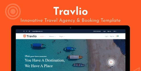 Travlio - Tour & Hotel Booking HTML Template