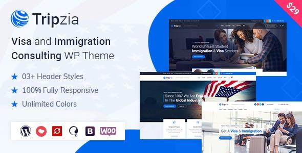 Download Tripzia – Immigration Consulting WordPress Theme