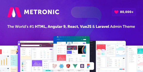 Metronic - Bootstrap 4 HTML, React, Angular 9, VueJS & Laravel Admin Dashboard Theme - Admin Templates Site Templates