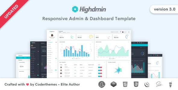 Highdmin - Admin & Dashboard Template - Admin Templates Site Templates