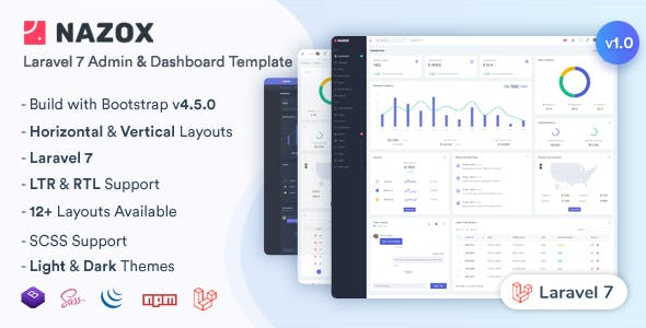 Download Nazox - Laravel Admin & Dashboard Template