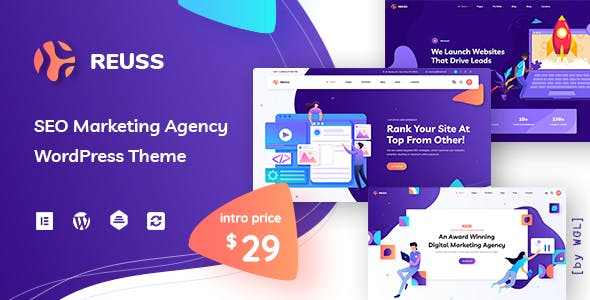 Download Reuss - SEO Marketing Agency WordPress Theme