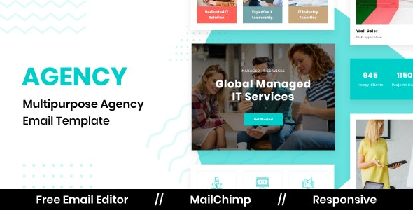 Agency - Responsive Email Template For Agency With Free Email Editor - Newsletters Email Templates