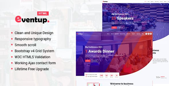 Eventup - Virtual and Live Event Marketing Landing Pages