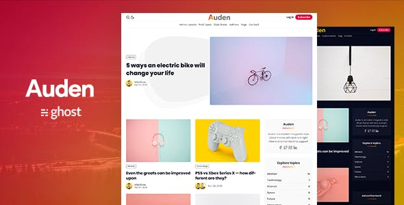 Download Auden - a Membership Ghost 3.0 Theme