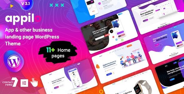 app landing page - Technology WordPress
