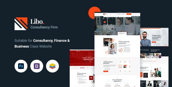 Libo - Consulting Business PSD Template