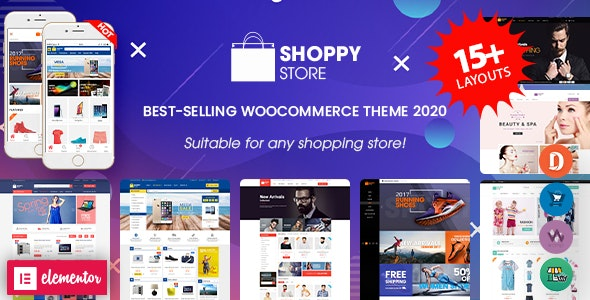 ShoppyStore - Multipurpose Elementor WooCommerce WordPress Theme (15+ Homepages & 3 Mobile Layouts) - WooCommerce eCommerce