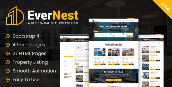EverNest - Real Estate HTML Template
