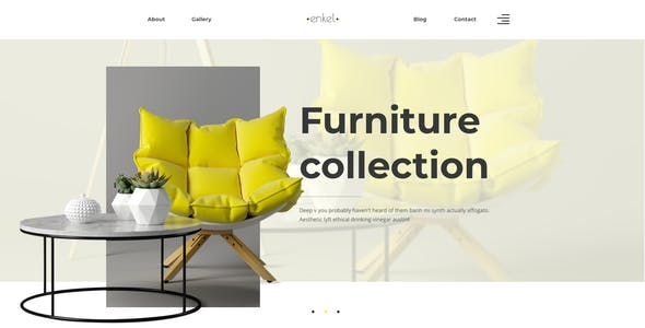 Enkel – Furniture Company Template for Figma