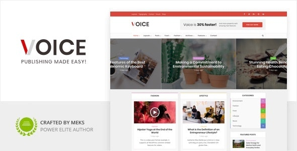 Voice - News Magazine WordPress Theme - News / Editorial Blog / Magazine