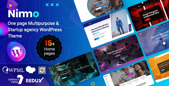 Nimmo - One page WordPress - Creative WordPress