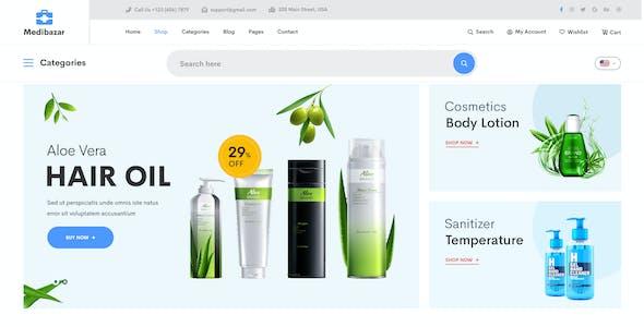 Medibazar - Medical Equipment Store eCommerce PSD Template