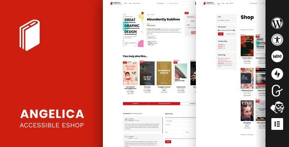 Download Angelica - Accessible Bookstore WordPress theme