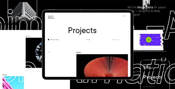 Delia | Template For Freelancer - Portfolio Creative