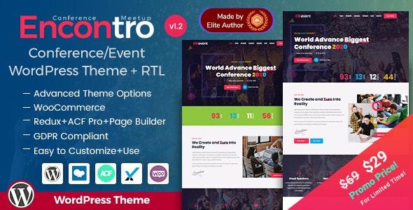 Encontro - Conference & Event WordPress Theme - Events Entertainment