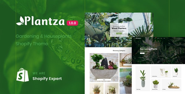 Plantza - Gardening & Houseplants Shopify Theme - Shopify eCommerce