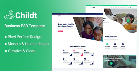 Childt - NonProfit Charity PSD Template
