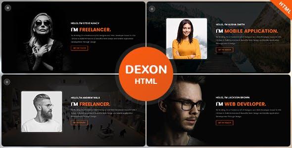Download Dexon - Personal Portfolio HTML Template