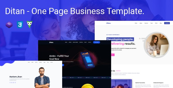 Ditan - One Page Parallax - Corporate Site Templates