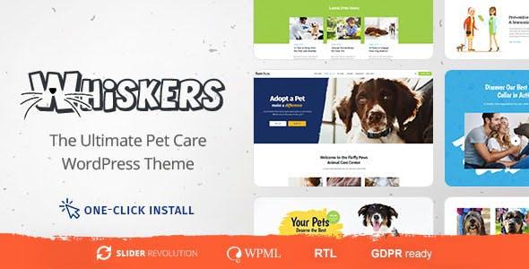 Whiskers - Pet and Vet WordPress Theme