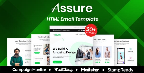 Assure - Multipurpose Responsive Email Template 30+ Modules Mailchimp - Newsletters Email Templates