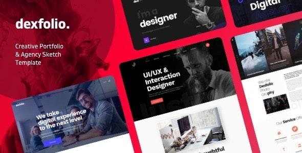Dexfolio - Creative Portfolio & Agency Sketch Template - Portfolio Creative