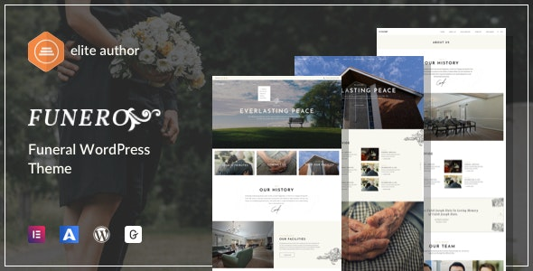 Funero - Funeral Services & Cremation WordPress - Nonprofit WordPress